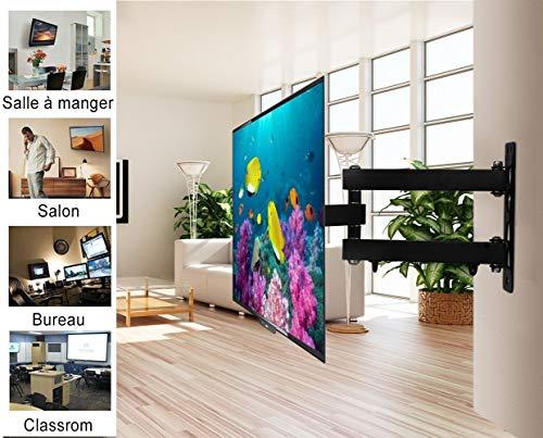 MODERNLIFE Support TV Mural orientable et inclinable pour télé de 10-42 Pouces (25-107cm), jusqu'à 50kg (110lbs), VESA Max 200x200mm, pour 4K 3D téléviseur d'écran Plat PC LED LCD Plasma et incurvé