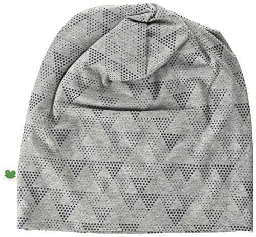 Fred's World by Green Cotton Boys Victory Beanie Hat, Pale Greymarl, 128-134