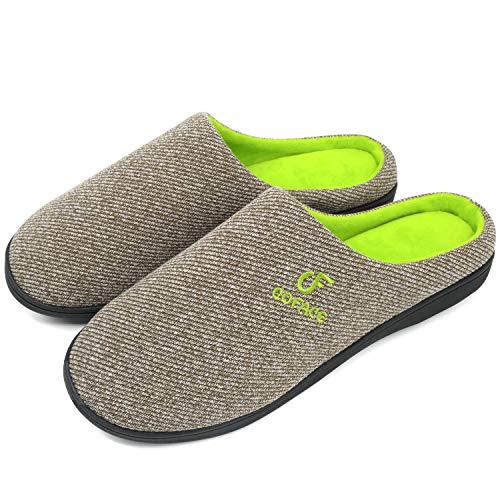 Coface Zapatillas-De-Casa-Hombre-Pantuflas-Suela-de-Memoria, Zapatos Invierno de La Casa, Hombre Zapatilla de Estar Antideslizante Felpa Cálido Pantufla Deslizantes Slipper Interiores y Exteriores