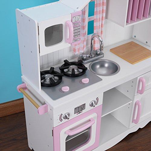 KidKraft 53222 Moderne Country Spielküche, Rosa und Weiß - 11