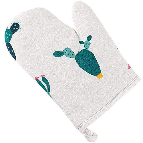 Serria® Hitzebeständig Ofenhandschuhe, Haushalt Bäckerei Hitzebeständigkeit Mikrowelle Backofen Handschuhe Mehrfarbig