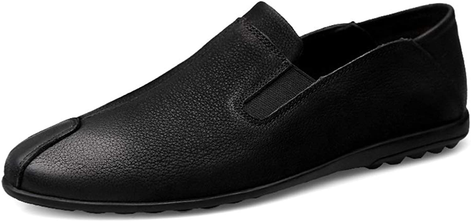 2018 men shoes Men's Casual Personality Retro Simple Lightweight Boat Moccasins Fashion Driving Loafers (color   Black, Size   9 UK)
