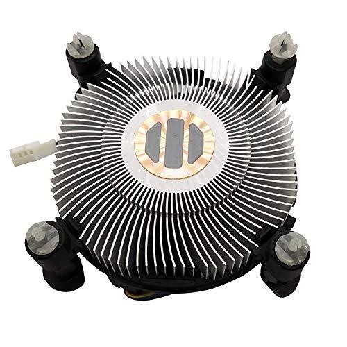 Lee_Store New CPU Cooling Fan with Copper core Heatsink for Intel LGA1150 LGA1151 LGA1155 LGA1156 Socket Celeron/Pentium/i3/i5/i7 Processors Series E97379-003 E97378-001 GXiVR8060A10 DC12V 0.60A 4-PIN