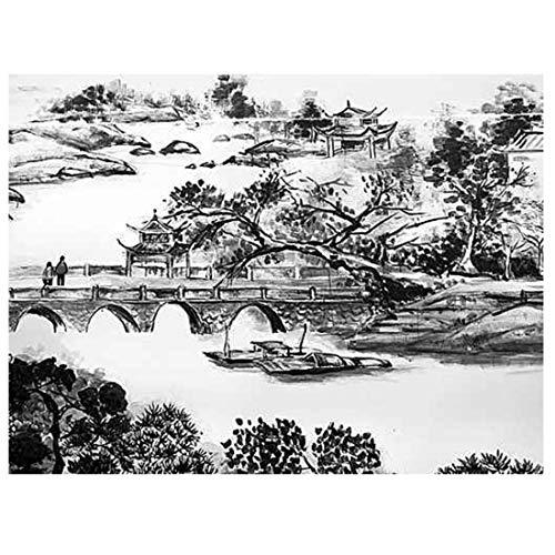 Einfache Kunstdesign-Tapete der chinesischen Arttintenmalerei