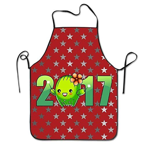 Not Applicable Sicherheitsschürzen, 2017 Cactus Design Damen Funny Creative Print Kochschürzen Luxuriöse Kochschürze 52x72cm