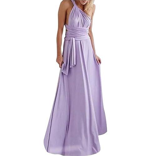 9b8c03fb8982ab Lover-Beauty Kleider Damen V-Ausschnitt Rückenfrei Neckholder Abendkleider  Elegant Cocktailkleid Multi-Way