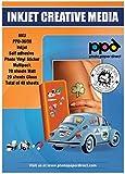 PPD DIN A4 x 40 Blatt MULTIPACK Inkjet PREMIUM Vinyl Aufkleberfolie ( Stickerfolie ) weiß glänzend / weiß matt selbstklebend, mikroporös beschichtet für vollfarbige Drucke in Fotoqualität - Reißfest, Strapazierfähig - Multipack mit jeweils 20 Blatt DIN A4 x 20 Blatt PPD036/38-40