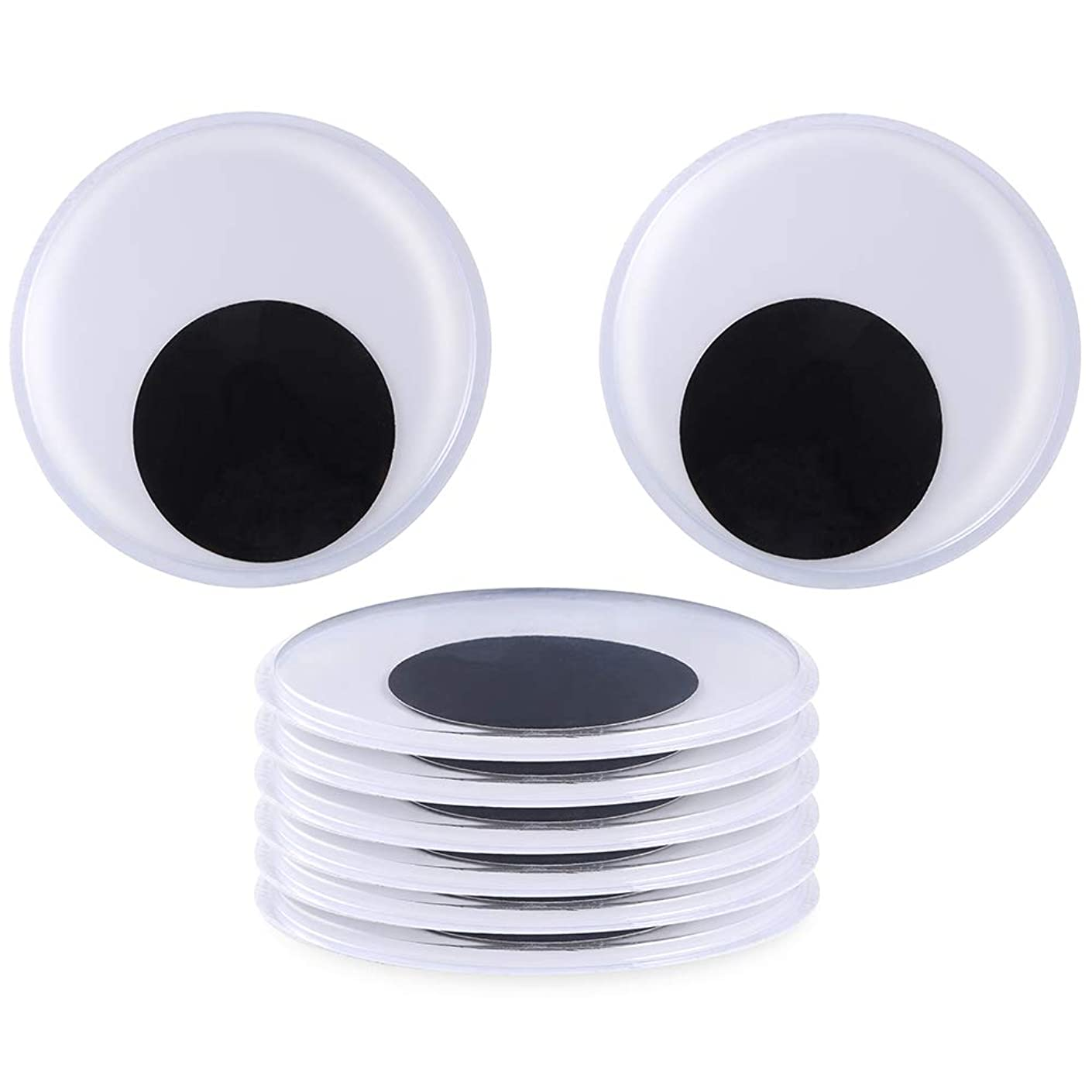Sntieecr 8 Pack 5.1 Inch(13 cm) Large Wiggle Googly Eyes?with Self Adhesive for Craft Decorations