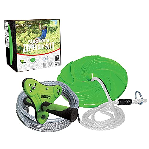 Product Image of the Slackers 40 ft Falcon Zipline - Kids Outdoor Zip line Kit - Great Outdoor Play...