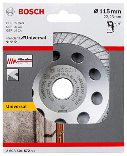 Bosch Professional Diamond Wheel Cup for Universal (for concrete and natural stone, 115 x 22.23 x 3 mm, accessories for angle grinders)