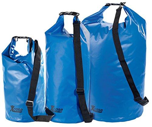 Xcase Wasserfeste Packsäcke: Urlauber-Set wasserdichte Packsäcke 16/25/70 Liter, blau (Packsäcke aus LKW-Plane)