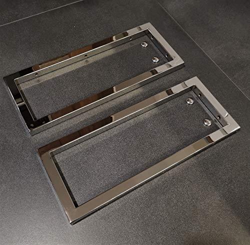 2er Set Chrom Handtuchhalterung/Wandhalterung Waschtischplatte Regalträger Konsolenhalterung Wandkonsole Konsolenträger