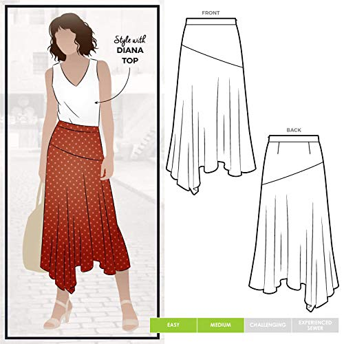 Style Arc naaipatroon - Canterbury Rok Sizes 18-30