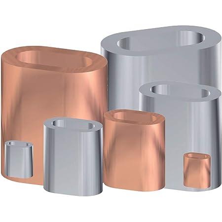 10 x PRESSKLEMME F/ÜR SEIL 3mm Aluminium Drahtseilklemme Stahlseil Seil Draht Stahl Drahtseil
