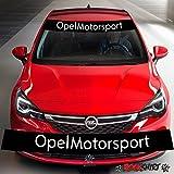 myrockshirt Opel Astra Motorsport Aufkleber Rennstreifen 130cm+Logo- Aufkleber,Decal, Sticker,auch Hochleistungsfolie, Sonnenblende,