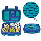 Bentgo Kids Prints (Sharks) - Leak-Proof, 5-Compartment Bento-Style Kids Lunch Box - Ideal Portion...