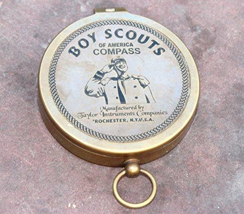 Dekor Mobilya Antique Brass Nautical American Boy Scout Compass Navigational FUNCTIONALITY Compass Magnetic