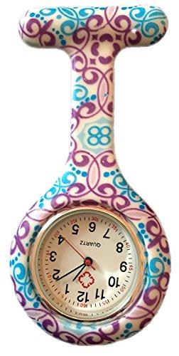 Orologio da taschino alla moda, colorati e con disegni, in gomma di silicone, per infermieri