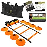 Corintio Sport Agility Ladder Speed Training Equipment Set - 20ft Workout Speed Ladder