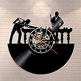 Reloj de pared con diseño de jugador de billar, personalizable para billar o billar