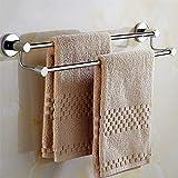 Toallero grueso de doble polo, barra de toalla de acero...
