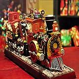XFSE - Carillon elettronico con treno di Natale, luci lampeggianti colorate, decorazioni per la...