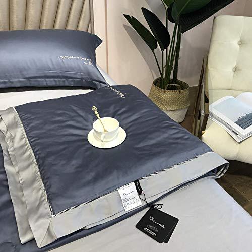 CHOU DAN edredon nordico Cama 135 Plumon,4 Sets de sábanas de lecho engrosadas de Lujo Ligero Simple.-9_Conjuntos de 2.0M A-4