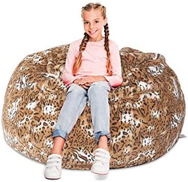 COLOR TREE Kids Bean Bag Chair 36in Large Boys Girls Soft Self Inflated Couch Beanbag with Filling product image