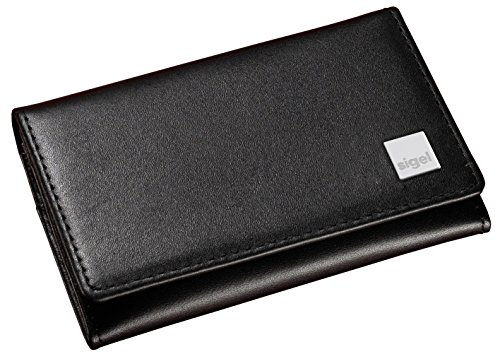 Sigel VZ200 - Tarjetero de piel, Torino, color negro