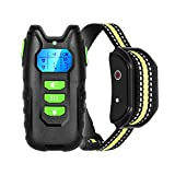 Dog Training Collar with Remote, Rechargeable Waterproof Home Dog Training Device Controller Safe Behavior Correct Dog Trainer for Small Medium Large Dogs, Up to 1000Ft Remote Range