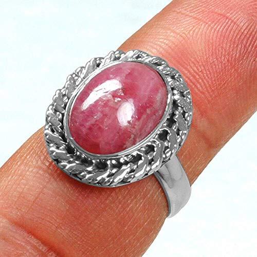 Rhodocrosite 925 Sterling Silver Rings for Women, Red Bridesmaid Rings, Oval Gemstone Rings, Simple Rings, bezel Set Handmade Rings
