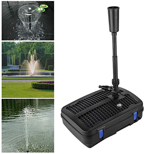 Forever Speed 4 in 1 Teichpumpe Springbrunnenpumpe mit Filter, 11W UV-Klärer, 2500l/h, mit 10m Stromkabel für Garten- und Springbrunnengestaltung (11W 2500l/h)