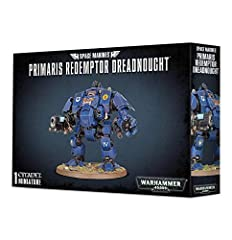 The Primaris Redemptor Dreadnought comes as 109 components, and is supplied with a Citadel 90mm Round base and a transfer sheet. This is an exceptionally aggressive-looking model that befits its status as a powerhouse on the gaming table.