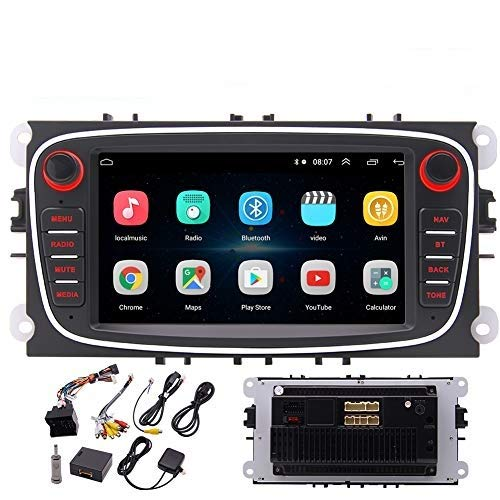 EINCAR Android 10.0 Car Stereo Radio Receiver Video Player 7 Inch Touch Screen GPS Navigation with Bluetooth 2 Din Head Unit Supports RCA Backup Camera WiFi USB AUX in Phone Link