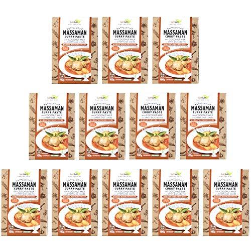 チブギス オーガニック マッサマンカレー ペースト(スイートバジル付き)【お得に100g x 12個セット】有機JAS認定/グルテンフリー/ヴィーガン CIVGIS Organic Massaman Curry Paste [ Organic Gluten
