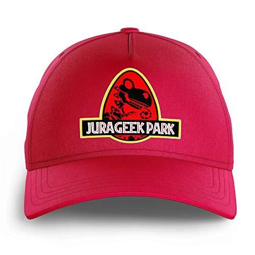 OKIWOKI Yoshi - Jurassic Park Lustiges Rosa Kinder Kappe - Yoshi und Jurassic Park (Yoshi - Jurassic Park Parodie signiert Hochwertiges Kappe - Einheitsgröße - Ref : 430)