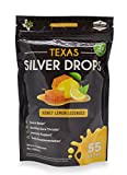 Texas SuperFood - Silver Drops, Honey Lemon Lozenges, Silver Lozenges Mineral Supplement, Soothes a Sore Throat or Cough & Provides Immune Support, 55 Drops