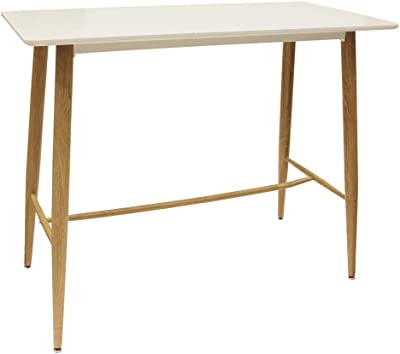 THE HOME DECO FACTORY HD6455 Table Mange Debout Blanc, MDF, 115 x 102 x 60 cm