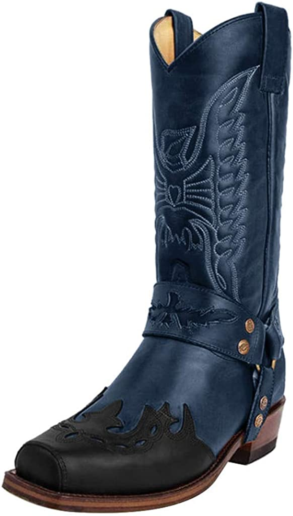 Vintage Exotic Python Cowboy Boots - RQWEIN Women's Ankle Boots Low Heels Chunky Cutout Booties Perforated Western Shoes