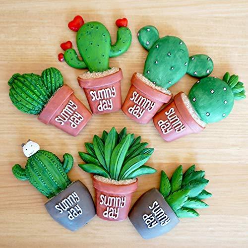 YERIN 4 piezas suculentas imán de nevera planta creativa resina refridgerator imanes decoración del hogar etiqueta de cocina (fruta roja) como se muestra 1