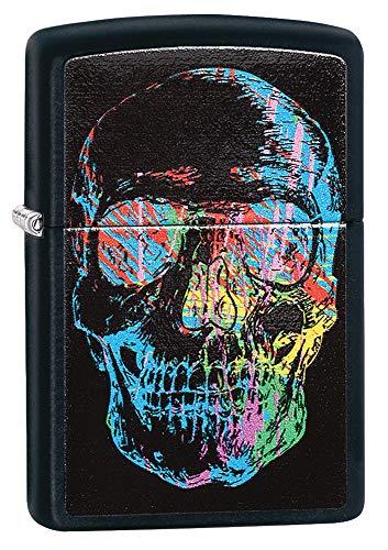 Zippo Feuerzeug X-Ray Skull, Black Matte