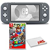 Nintendo Switch Lite (Gray) Console Bundle with Super Mario Odyssey Game and 6Ave Cleaning Cloth