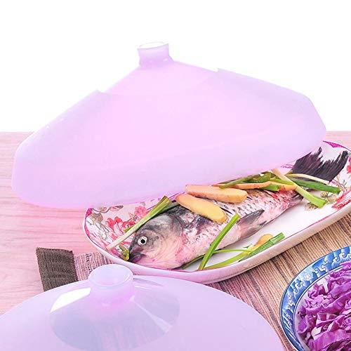 Plaque de Bol en Silicone Couvercle Alimentaire Four à Micro-Ondes Couvercle Chauffant Batterie de Cuisine AC HG