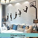 Yubing 3D Stereo Wandaufkleber Layup Muster Studentenwohnheim wasserdichte Jungen Schlafzimmer Raumdekoration Poster -