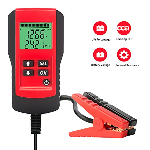SUNER POWER Digital 12V Car Battery Tester Automotive Battery Load Tester and Analyzer of Battery...