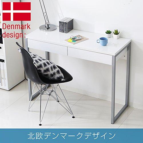 【Bigセール10%OFF価格!11/2700:00~12/0123:59】LOWYAデスクワークデスクパソコンデスク北欧デンマーク産木製幅102cmホワイト