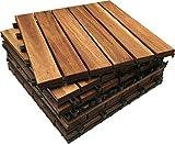 Click-Deck Hardwood Tiles Lot de 6dalles carrées très...