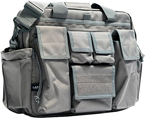 LA Police Gear Jumbo Bail Out Bag -Diaper Bag, Bug Out, Briefcase (Grey)