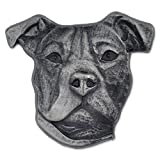 PinMart Silver 3D Pitbull Dog Breed Dog Lover Lapel Pin