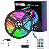 <span class='highlight'><span class='highlight'>Elegant</span></span> Life LED 5m Strip Lights, Light Strip 16.4ft RGB SMD 3528 LED Rope Lights, IR Remote Control Wireless Controlled, Power Supply Led Lights for Bedroom Home Kitchen Decoration(16.4ft)